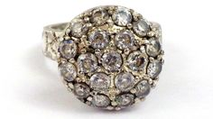 Sterling Silver Cluster Diamond Engagement by My3LadiesJewelry, $69.95 Get the look for under $100.00