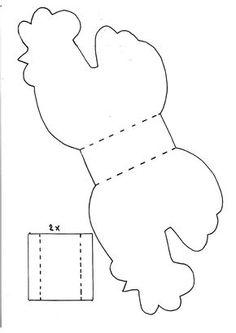Paniers de Pâques en forme de poule - Les Lutins Créatifs, bricolage pour enfants.