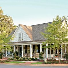 Southern Living house plans Farmhouse Revival, Plan This is my future house. Farmhouse Renovation, Farmhouse Plans, Modern Farmhouse, Farmhouse Style, Farmhouse Design, Southern Farmhouse, Farmhouse Front, White Farmhouse, Farmhouse Decor