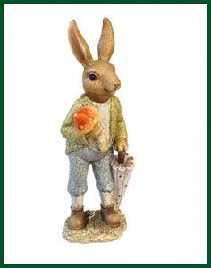 Dekorativer Hase mit Schirm crush - Look wetterfest