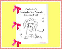 Carnival of the Animals Printable Coloring Ribbon by Crafterina  Watch our video: www.youtube.com/CrafterinaChannel Visit our website: www.Crafterina.com