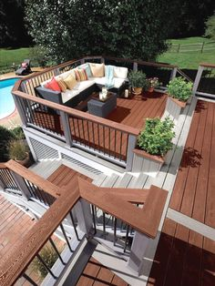 How To Find Backyard Porch Ideas On A Budget Patio Makeover Outdoor Spaces. Upgrading your backyard with a decorative concrete patio is likewise an in. Deck Design Plans, Wood Deck Designs, Pergola Designs, Wood Decks, Pergola Ideas, Pergola Plans, Pergola Kits, Deck Plans, Porch Ideas