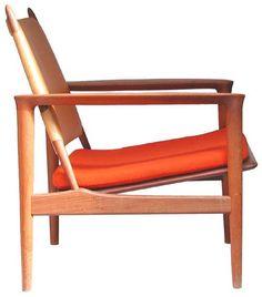 Torbjørn Afdal; 'Broadway' Lounge Chair for Svein Bjørneng, 1958.