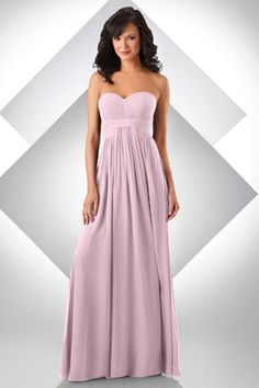 STYLE: 332 Bella Chiffon sweetheart shirred bust; shirred waist band with center front of skirt draping out of waist band