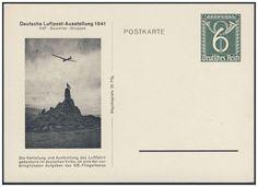 """Germany, German Empire, Deutsches Reich 1941, 6 Pfg.-GA-Privatpostkarte """"Deutsche Luftpost-Ausstellung"""", ungebraucht (Mi.-Nr.PP 149 C 2). Price Estimate (8/2016): 15 EUR. Unsold."""