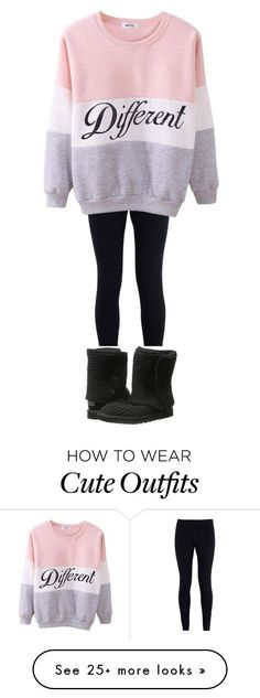 """Different chill outfit"" by ilana-chestney on Polyvore featuring NIKE, UGG Australia, women's clothing, women, female, woman, misses and juniors"