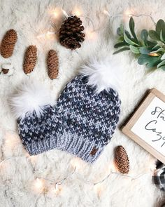 "66 Likes, 6 Comments - Meg🌲 Olive + Arrow Knits (@oliveandarrow) on Instagram: ""Did you cast your vote in the ""Pom Poll"" yesterday?! Faux fur poms won out over the yarn poms, but…"""