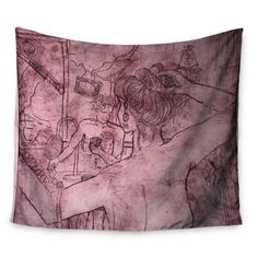 "East Urban Home Magic Tricks by Theresa Giolzetti Wall Tapestry Size: 50"" H x 60"" W"