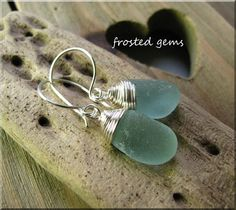Natural sea glass earrings (4) £12.00