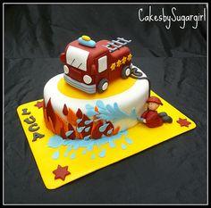 Great firetruck cake!