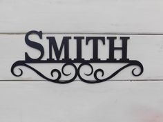 Personalized Name Sign Custom Metal Last by CoastalIronDesigns