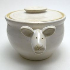 Lamb Shaped Ceramic Jar. $45.00, via Etsy.