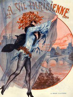 hoodoothatvoodoo:  Illustration by Cheri Herouard For La Vie Parisienne November 1921