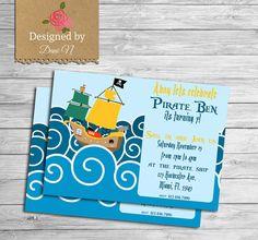 Pirate Birthday Invitation kids invitation by DesignedbyDaniN
