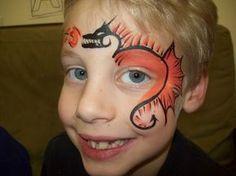 dragon face paint by elvira