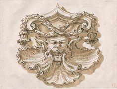 Modello per un elemento decorativo con mascherone, 1735