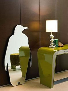 Pingui mirror Cute and quirky penguin mirror by Italian designers Manooi.