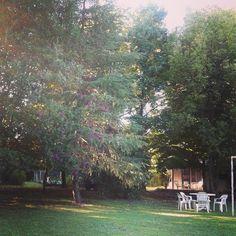 Amanecer de otoño en Achalay, tierra mojada