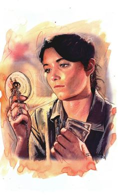 986046f64 Marion Ravenwood from Indiana Jones Raiders Of the lost Ark art