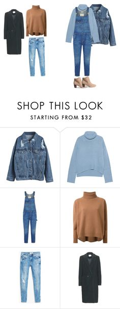 """Untitled #23"" by explorer-14499351471 on Polyvore featuring WithChic, iHeart, Current/Elliott, Le Ciel Bleu, H&M, MANGO and Carven"