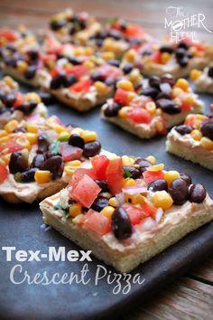 Tex-Mex pizza squares