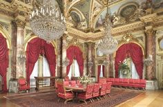 newport, RI-instead of one of the mansions that can be toured (The Breakers). What a dining room!
