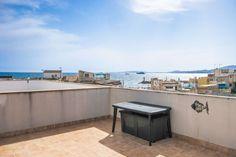 Portixol/ Es Molinar, Palma de Mallorca: Top floor apartment with fabulous sea views from roof terracce in Molinar
