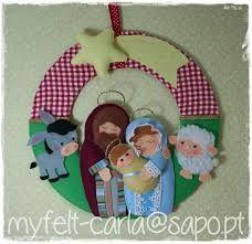 Resultado de imagem para artesanato de feltro para o natal
