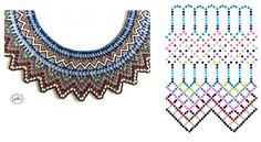 Beading Tutorials, Beading Patterns, Bead Jewellery, Beaded Jewelry, Beaded Necklace, Diy Necklace Patterns, Beaded Collar, Earring Tutorial, Handmade Beads