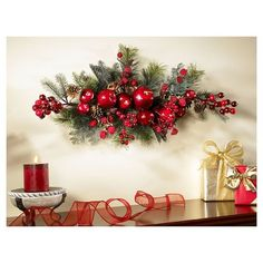 Nearly Natural 30 Apple Berry Swag, Multi Christmas Swags, Noel Christmas, Christmas 2019, Christmas Crafts, Christmas Ornaments, Christmas Trends, Christmas Centerpieces, Christmas Decorations, Holiday Decor