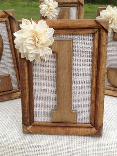 Rustic Wedding Table Numbers  Set Includes by CountryBarnBabe @Julia Coutry