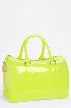 Citrus, candy-colored Furla satchel.