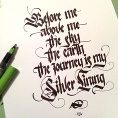 by Andrew Kelly  #calligraphy #calligraffiti #calligritype #typographyinspired #blackletter #inking #ink #lettering #handstyles #pilotparallelpen #handstyles #thedailytype #caligrafia #graffiti #showusyourtype #graphicdesign #goodtype #typedaily #typespire #handmadefont