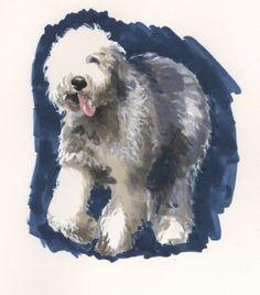 old english sheepdog art work - Bing images