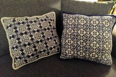Knitted pillows with traditional Selbu pattern. Enjoyed doing these!