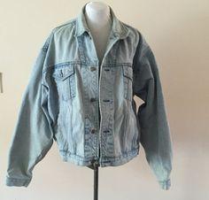 Vintage 1980s Gap Denim Jacket Sz Mens XL by Reneesance on Etsy
