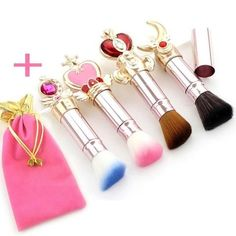 Frugal 7 Pcs Card Captor Sakura Cos Makeup Brush Sets Magic Wand Eye Shadow Brush Comestic With Bag Brush Tools Drop Ship Costumes & Accessories Novelty & Special Use