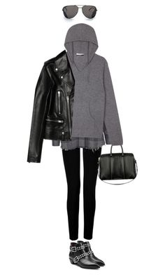 """""""Winter Layering: Hoodie"""" by junglover ❤ liked on Polyvore featuring Joseph, IRO, Givenchy, Sandro, Yves Saint Laurent, Marc by Marc Jacobs, women's clothing, women's fashion, women and female"""