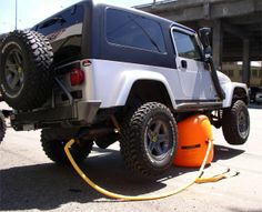 For the 4x4. Bushranger's new X Jack. Change your spare wheel anywhere, on any surface. The two-way inflation system uses either the exhaust or a portable air compressor which provides added control in determining, rate and extent of lift. The easy to use inflation/deflation system keeps you at a safe distance from the vehicle during operation.