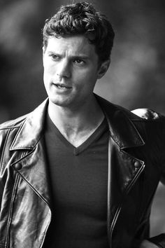 Jamie Dornan is very sexy in a leather jacket