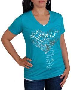 Love Is V-Neck (Womens) - Christian Womens Shirts for $25.99   notw.com