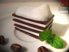 Coffee lasagne with milk foam