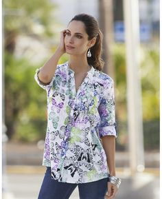 MyStyleRules.com - what to wear • where to shop tunic top v brings focus to face