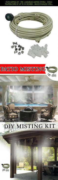 Patio Misting Kit - Pre- Assembled Misting System - Cools temperatures by up to 30 degrees - Brass/Stainless Steel Misting Nozzles - For Patio, Pool and Play areas (24 ft - 4 Nozzles) #technology #gadgets #products #patios #kit #parts #plans #tech #fpv #cooling #outdoor #for #camera #drone #racing #shopping
