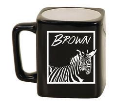 Ceramic Mugs - Square 8oz - Zebra Personalized