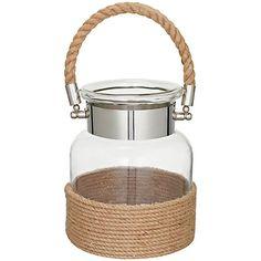 Buy John Lewis Glass Jar Rope Lantern, Small Online at johnlewis.com