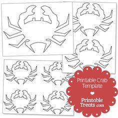 Printable Crab Template from PrintableTreats.com