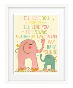 Pink 'I'll Love you Forever' Print uuwww<3