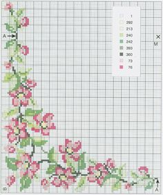 This Pin was discovered by TC Mini Cross Stitch, Cross Stitch Borders, Cross Stitch Flowers, Cross Stitch Designs, Cross Stitching, Wedding Cross Stitch Patterns, Cross Patterns, Counted Cross Stitch Patterns, Cross Stitch Embroidery