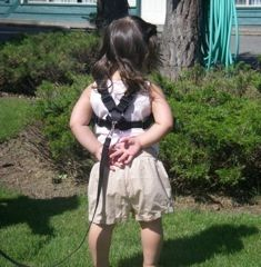 Child Harness on a toddler